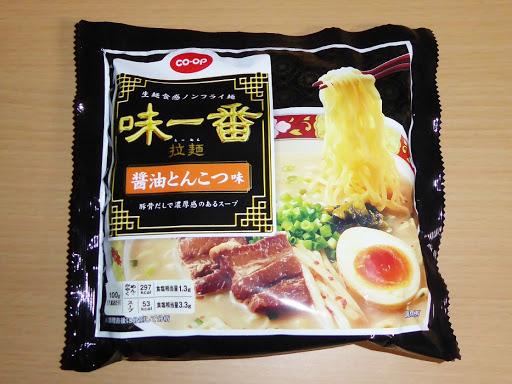 【coop・コープ】(ユタカフーズ株式会社)味一番 拉麺(らーめん)醤油とんこつ味