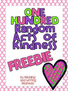100 random acts of kindness, #classroomfreebies