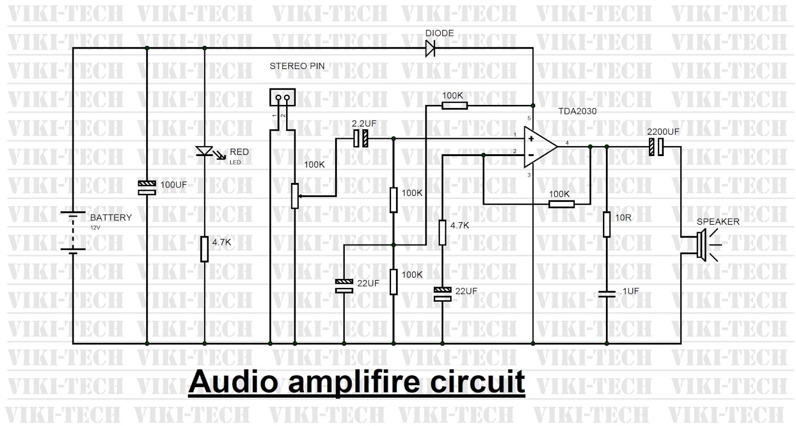 Power Amplifier Circuit Using Ic Tda2030 Electronic Circuits