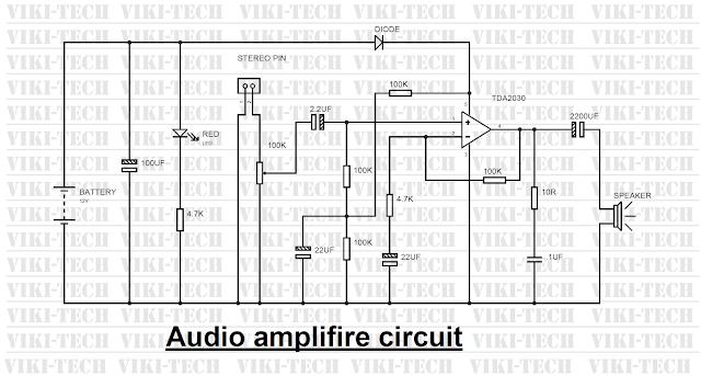 power amplifier circuit using ic tda2030