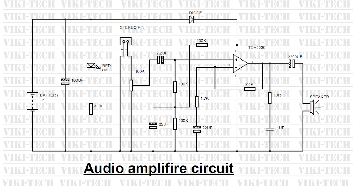 power amplifier circuit using ic tda2030