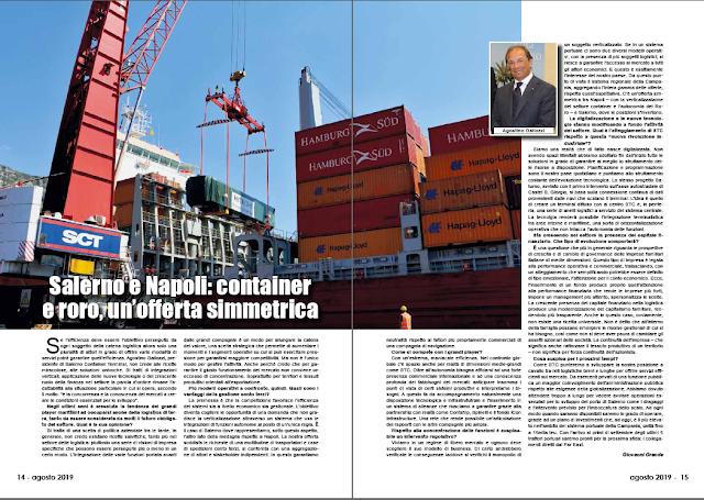 AGOSTO 2019 PAG. 14 - Salerno e Napoli: container e roro, un'offerta simmetrica