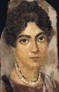 donna triste - ritratto femminile da el Fayum