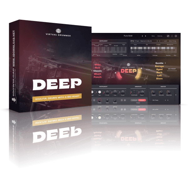 UJAM Virtual Drummer DEEP v2.1.1 Full version
