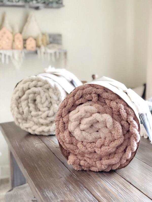 chenille knit blanket
