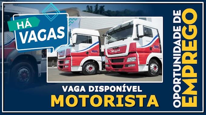 Transportadora Tassi abre vagas para Motorista