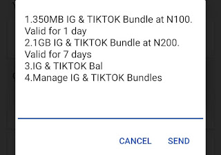 How to Subscribe/Activate MTN Instagram and Tiktok Plans to Get 1GB For 200 Naira