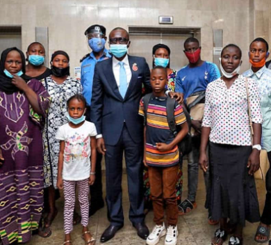 Lagos state Governor compensates families of slain police officers, with N10million each