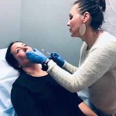 Female patient receiving Botox treatment at Beautox Bar Medspa Maple Grove