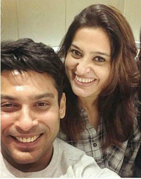 Siddharth Shukla with Smita Bansal