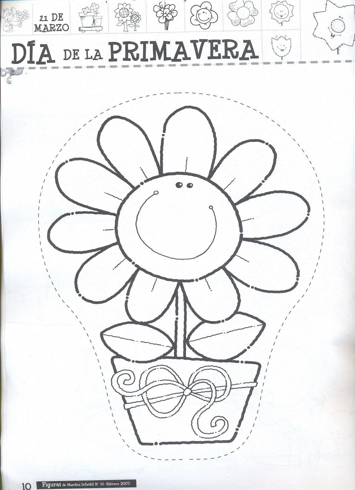 Excepcional Flores De Primavera Para Colorear Páginas Para Niños ...