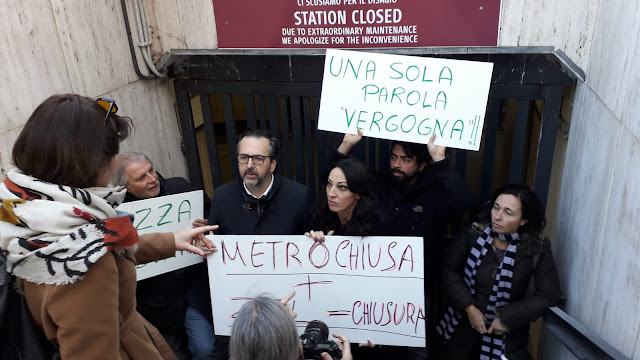 Stazione Metro Barberini: La protesta dei commercianti
