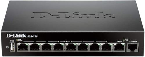 D-Link DSR-250  8 Port Gigabit VPN Router