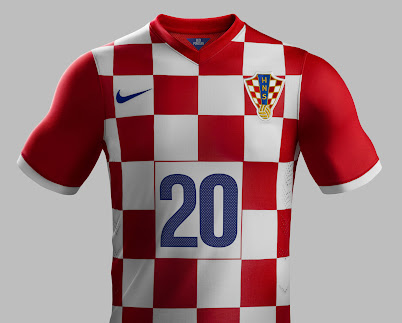 0a1dd850d The Croatia 2014 Home Kit features a red white-checkered look which is not  continued on the sleeves and upper backside. The sleeve cuffs of the Croatia  2014 ...