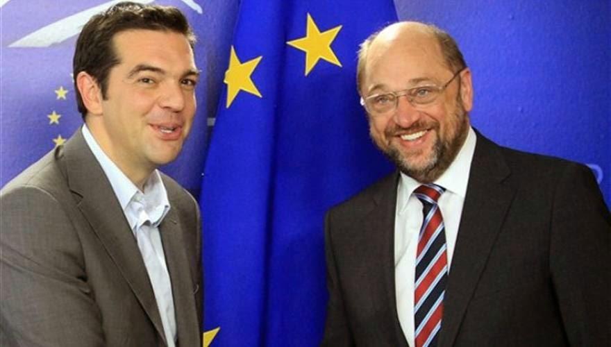 """Απειλεί την κυβέρνηση Α.Τσίπρα ο Μ.Σούλτς γιατί η Ελλάδα """"σπάει"""" τη γραμμή Βρυξελλών κατά της Ρωσίας"""