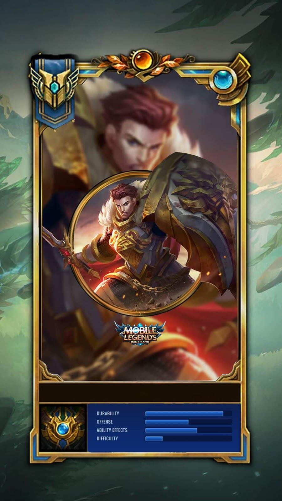 Wallpaper Tigreal Warrior Of Dawn Old Skin Mobile Legends HD for Mobile