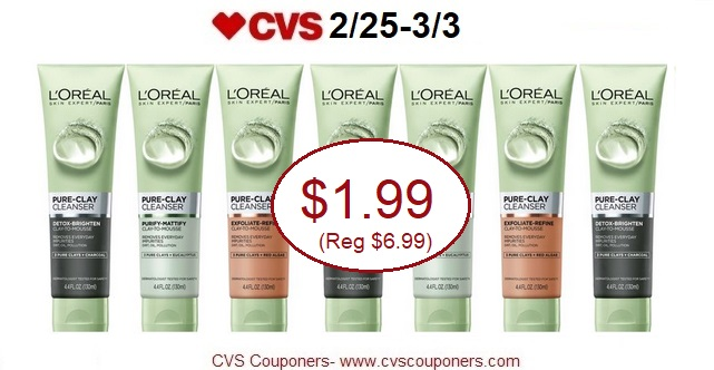 http://www.cvscouponers.com/2018/02/stock-up-pay-199-for-loreal-pure-clay.html