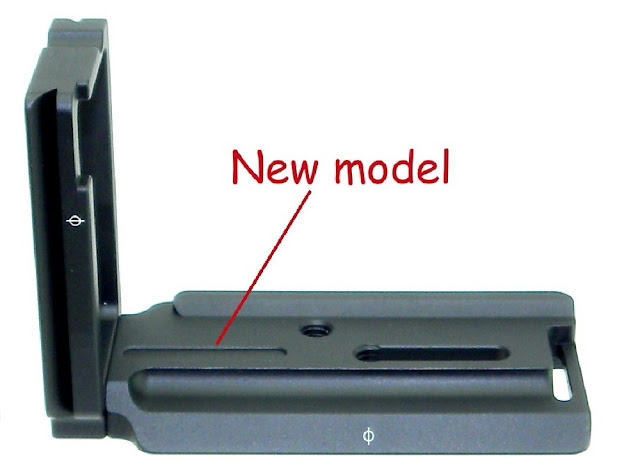 New Sunwayfoto PSL-a7II L Bracket relief groove detail.