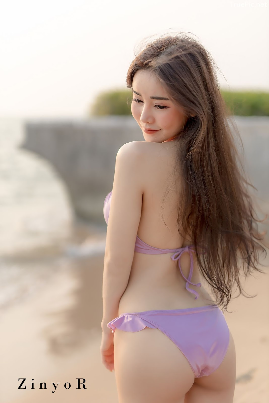 Image-Thailand-Sexy-Model-Blue-Jirarat-จิรารัตน์-ชานันโท-Blue-On-The-Beach-TruePic.net- Picture-8