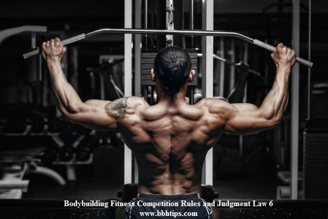 Bodybuilding Fitness Competition Rules Judgment Law 6