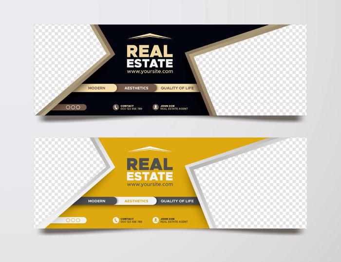 Real Estate Social Media Cover Template