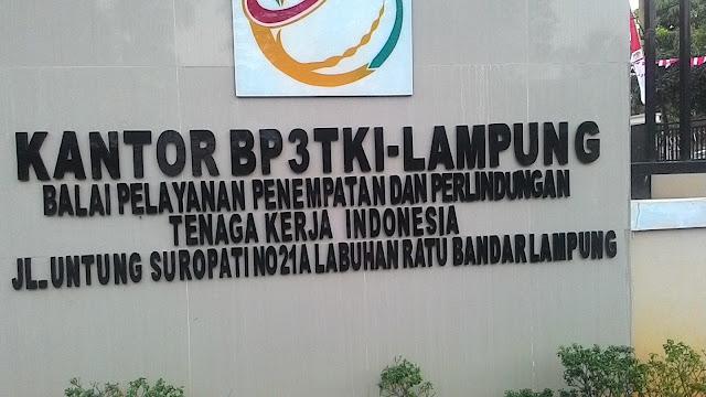 Alamat Kantor BP3TKI Lampung