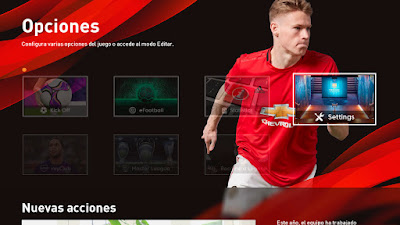 PES 2020 New Graphic Menu by Txak