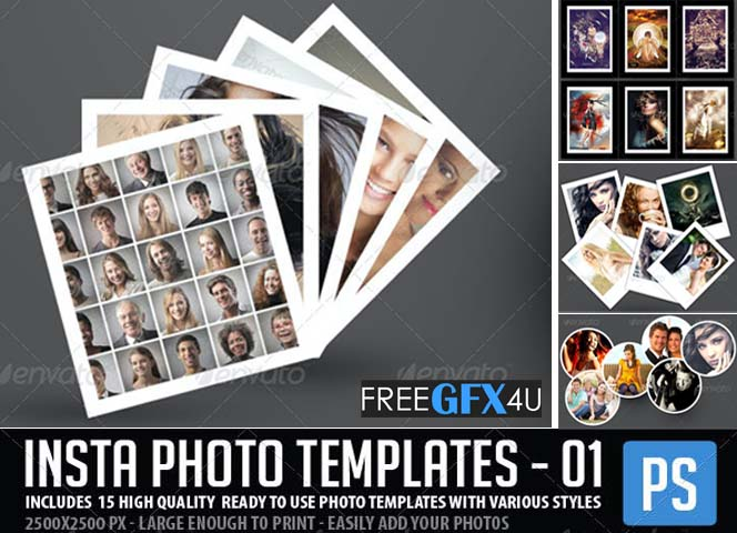 Insta Photo Templates 15 in 1 Pack