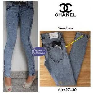 Celana Jeans Wanita Chanel Snowblue
