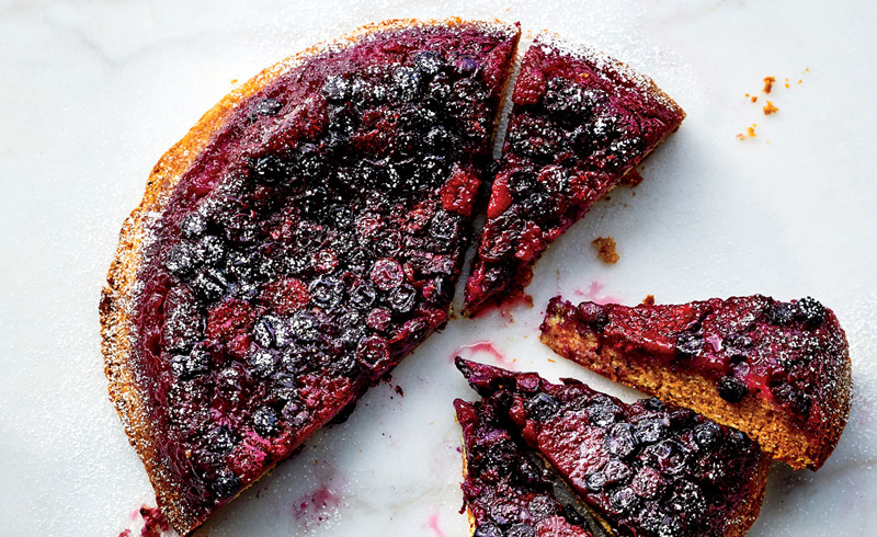 Bumbleberry Buttermilk Upside-Down Cake