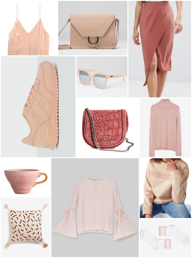 clothes, style, fashion, H and M, Monki, pink, Pull and Bear, style, wish list, wishlist, ASOS, cushion, home, home decor, bag, sunglasses, jumper, sweatshirt, camisome, cami, trainers, shirt,