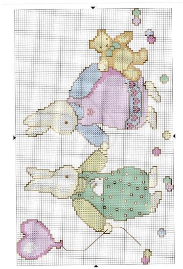 La copertina con gli orsi -schema a punto croce free