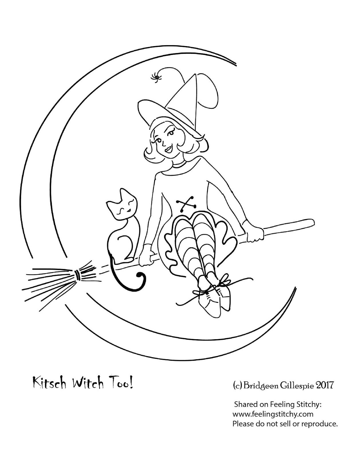 Kitsch Witch Too free Halloween pattern by Bridgeen Gillespie for Feeling Stitchy