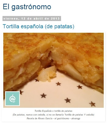 Recetas TOP10 de El Gastrónomo en mayo 2016 - Tortilla española (de patatas)