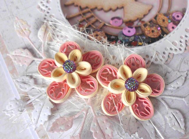 quillingowe kwiaty ręcznie robione