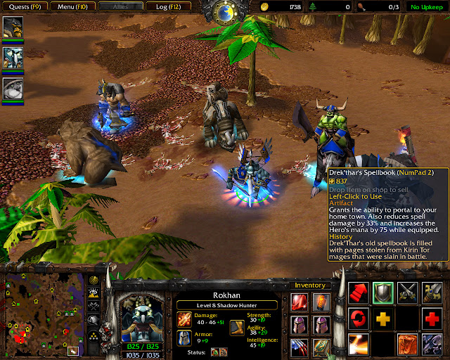 Rokhan Hero Screenshot  | The Founding of Durotar | Warcraft 3: The Frozen Throne