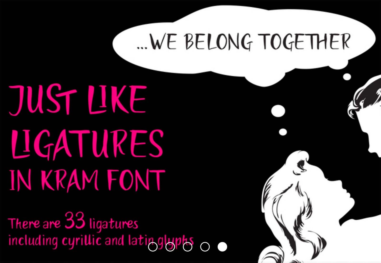 Font Edisi September - Kram Font Free