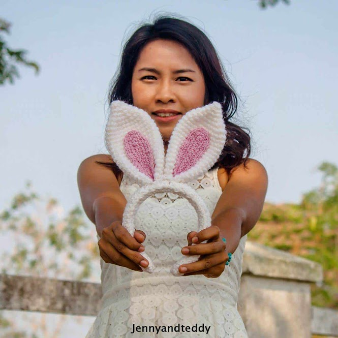 DIY Bunny Ears Headband FREE Crochet Pattern