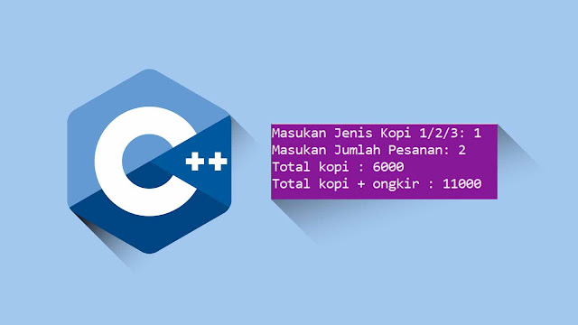 Jawaban Responsi program C++ (percabangan switch)