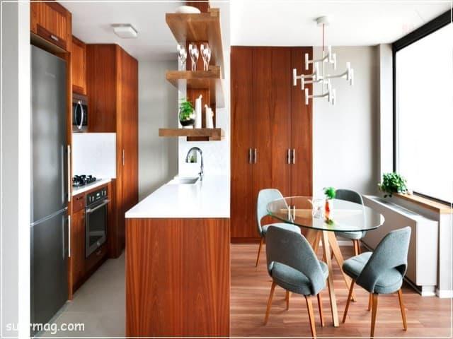 اشكال مطابخ خشب 11   wood kitchens shapes 11