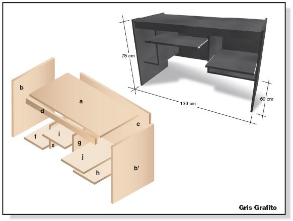 Bricolaje Como Hacer Plano Muebles Melamina Escritorio Diy Web - Como-disear-muebles