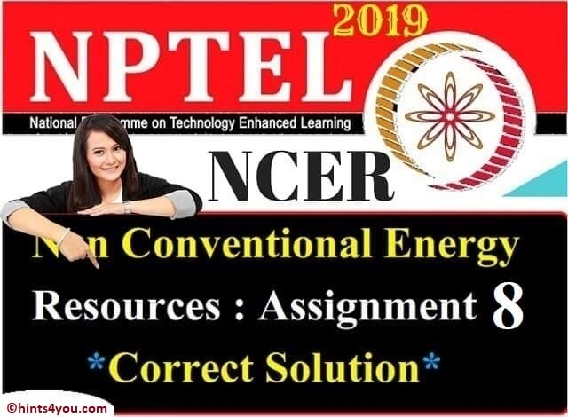 NCER Assignment 8 solution - NCER NPTEL