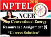 Non-Conventional Energy Resources - NPTEL Assignment 8 Answers