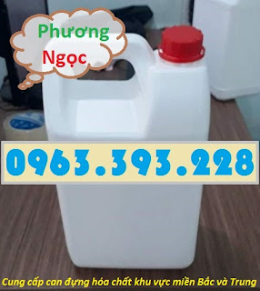 Can nhựa 5 Lít, can đựng hóa chất, can nhựa HDPE nguyên sinh 5L3