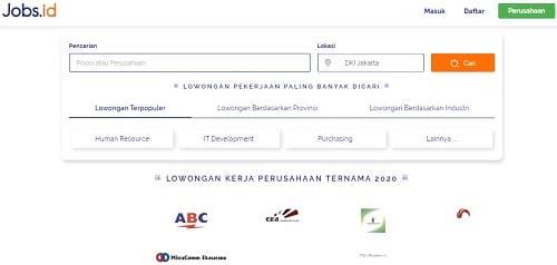 Situs Lowongan Pekerjaan Jobs.id