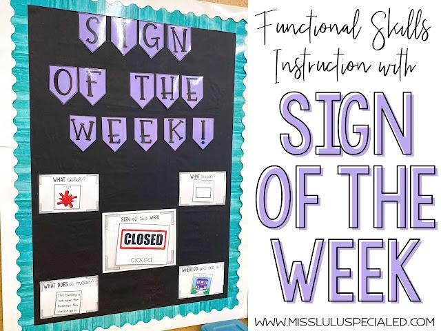 Sign of the Week interactive bulletin board display