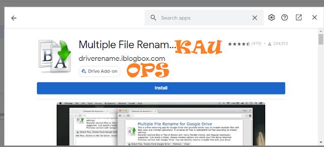 Langkah Ke empat dalam Merename File Masal Di Google Drive
