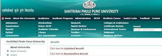 Pune University SPPU BA B.com B.sc result 2018