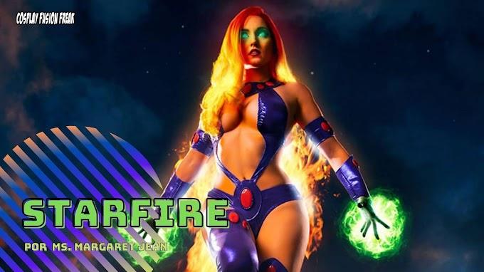 Ms. Margaret Jean con su cosplay de Starfire