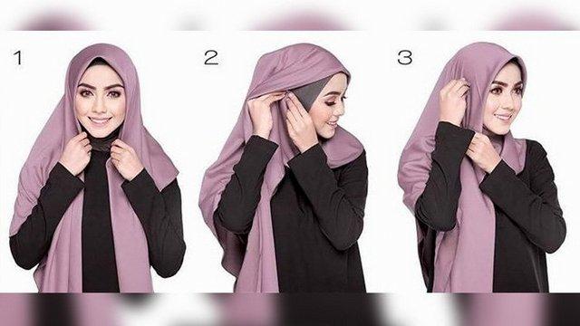 model hijab segi empat dengan pilihan yang terbaru